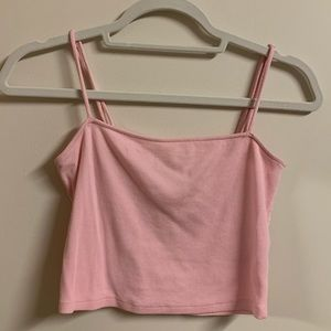 Cropped light pink tank top from Heart & Hips